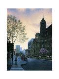 Sunrise in Old Montreal Prints by Denis Nolet