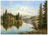 Siberian Lake Plakat af Helmut Glassl