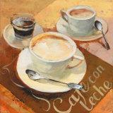 Cafe Grande II Posters van Willem Haenraets