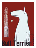 Bull Terrier Tea Premium Giclee Print by Ken Bailey