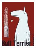 Bull Terrier -tee Premium-giclée-vedos tekijänä Ken Bailey