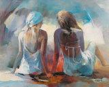 Two Girl Friends I Poster van Willem Haenraets