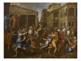 L'enlèvement des Sabines Stampa giclée di Nicolas Poussin