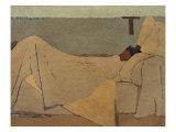Au lit Reproduction procédé giclée par Edouard Vuillard
