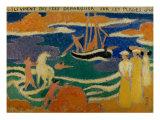 They Saw Fairies Landing on the Beaches Reproduction procédé giclée par Maurice Denis