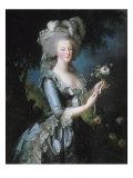 """La reine Marie-Antoinette dit """"à la Rose"""" (1755-1793) Reproduction procédé giclée par Elisabeth Louise Vigée-LeBrun"""