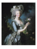 "La reine Marie-Antoinette dit ""à la Rose"" (1755-1793) Giclee-trykk av Elisabeth Louise Vigée-LeBrun"