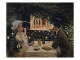 "Dinner at ""The Ambassadors"" Giclee Print by Jean Béraud"
