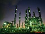 Oil Refinery at Dusk, Houston,Texas Fotografisk trykk av Lynn Johnson
