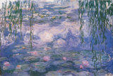 Nympheas Poster van Claude Monet