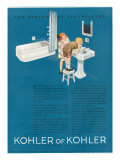 Kohler, Magazine Advertisement, USA, 1923 Giclée-vedos
