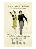 Fatima, Magazine Advertisement, USA, 1930 Giclee Print