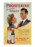 Phosferine, Magazine Advertisement, UK, 1950 Giclée-vedos