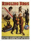 Ringling Bros, Poster, 1900 Giclée-Druck
