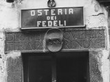 Sign for a Osteria Photographic Print by Vincenzo Balocchi