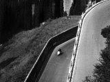 Vespa on a Street of Pitigliano Photographic Print by Vincenzo Balocchi