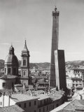 Bologna with Torre Degli Asinelli, Torre Della Garisenda, and Dome of Church of San Bartolomeo Photographic Print by A. Villani