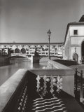 The Ponte Vecchio in Florence Fotografisk tryk af A. Villani