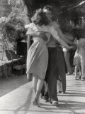 Man and a Woman Dancing in a Close Embrace Photographic Print by Vincenzo Balocchi