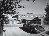 Entrance and Facade of the Ferrari Factory in Maranello Fotografie-Druck von A. Villani