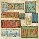 Believe and Hope II Plakater av Daphne Brissonnet