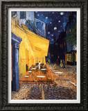 O Café Terrace na Praça do Fórum, Arles, à noite, cerca de 1888 Impressão em tela emoldurada por Vincent van Gogh