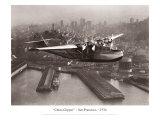 China Clipper, San Francisco, California, 1936 Giclée-tryk af Clyde Sunderland