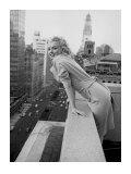 Marilyn Monroe på Ambassador Hotel, New York, ca 1955 Planscher av Ed Feingersh