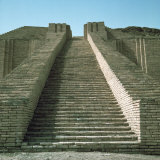 Staircase on Ziggurat, Ruins of Ur, Iraq, Middle East Photographic Print by Richard Ashworth