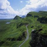 Rural Road in the Beinn Edra Range, Near Staffin, Isle of Skye, Scotland, United Kingdom, Europe Fotografisk tryk af Roy Rainford