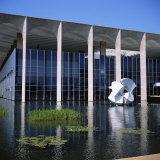 Palacio Do Itamaraty, Brasilia, UNESCO World Heritage Site, Brazil, South America Photographic Print by Geoff Renner