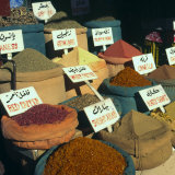 Close Up of Pyramids of Loose Spices for Sale in Local Market, Aswan, Egypt, North Africa, Africa Photographic Print by Eitan Simanor