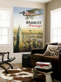 Braniff Airways, Manhattan, New York Seinämaalaus