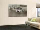 Lockheed Constellation, New York 1950 Seinämaalaus
