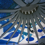 Interior of the Roof of the Catedral Metropolitana, Brasilia, Brazil, South America Photographic Print by Geoff Renner