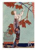 The Flighty Bird, France, Early 20th Century Reproduction procédé giclée par Georges Barbier