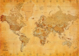 Wereldkaart - Vintage Poster
