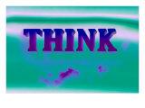 Think, Purple and Green Giclée-Premiumdruck