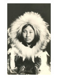 Eskimo in Fur Parka Láminas