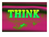 Think, Pink and Green Stampe