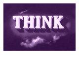 Think, Purple Giclée-Premiumdruck