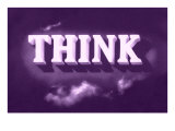 Think, Purple Poster