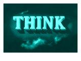 Think, Green Giclée-Premiumdruck