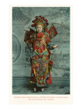 Elaborate Chinese Costume Póster