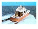 Color Photo of Speedboat Art
