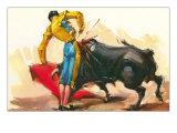 Bullfighting Scene Affiches
