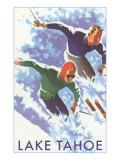 Skiers, Lake Tahoe Affischer
