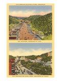 Two Views of Hot Springs, Arkansas Kunstdruck
