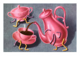 Animated Coffee Pot and Cup Julisteet
