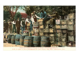 Destruction of Liquor in Kansas, Prohibition, 1907 Giclée-Premiumdruck